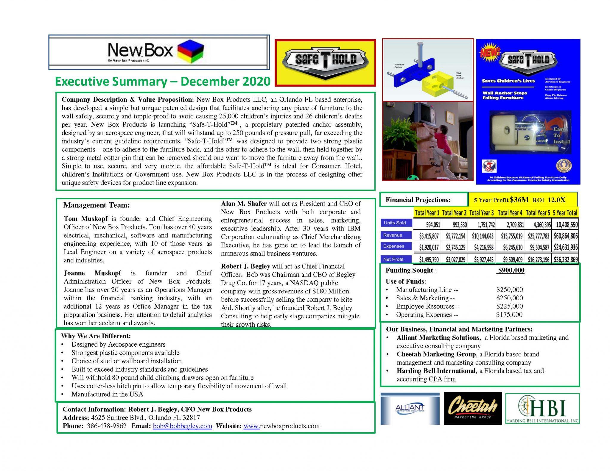 NewBox Investor Fact Sheet Dec 2020 Anchor V6